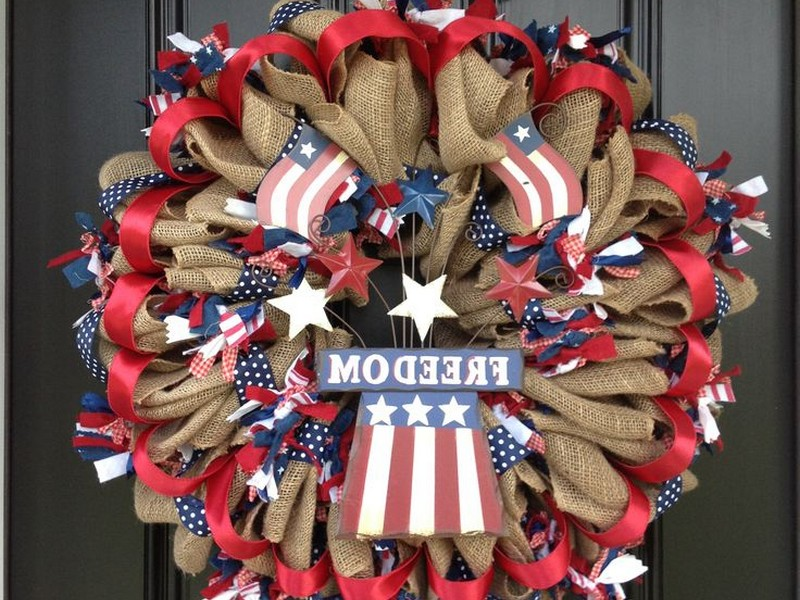 Fourth Of July Wreaths Pinterest
