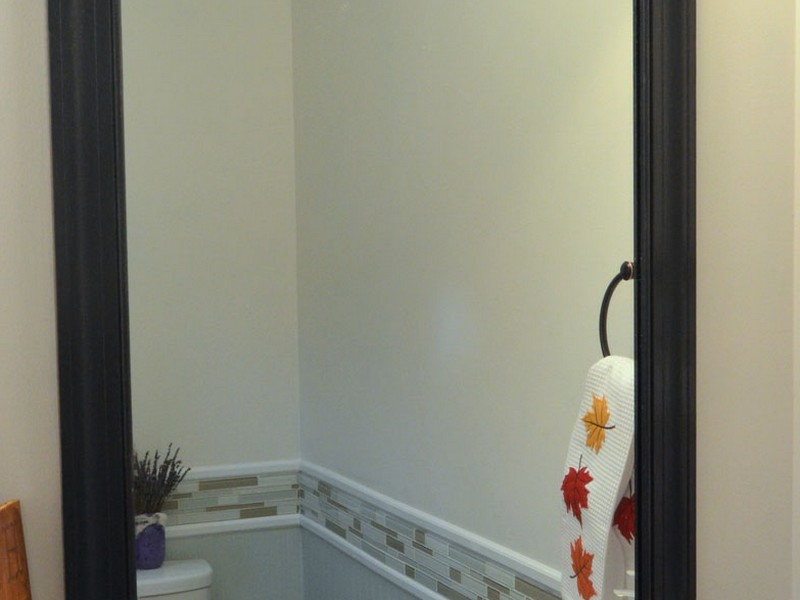 Frame A Bathroom Mirror With Clips