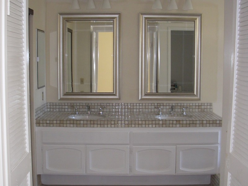 Framed Bathroom Mirror Silver