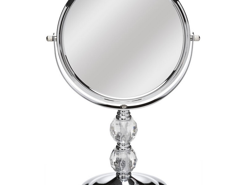 Free Standing Bathroom Mirror Chrome