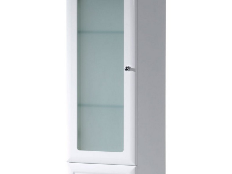 Free Standing Glass Bathroom Cabinets
