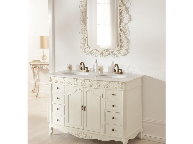 French Bathroom Vanity Cabinets