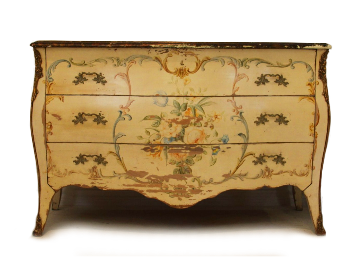 French Bombe Chest Of Drawers
