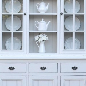 French Provincial Kitchen Buffet And Hutch