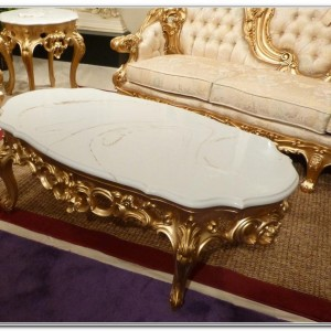 French Provincial Marble Top End Tables