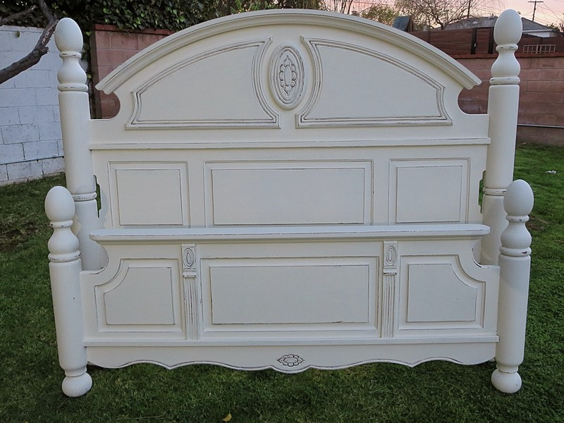 French Shabby Chic Bed Frame
