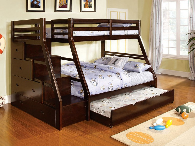 Full Bunk Bed With Trundle