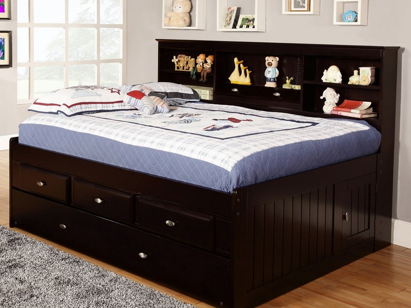 Full Size Bed With Drawers Underneath