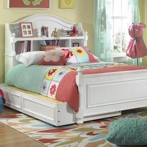 Full Trundle Bed White