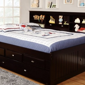 Full Trundle Bed With Storage