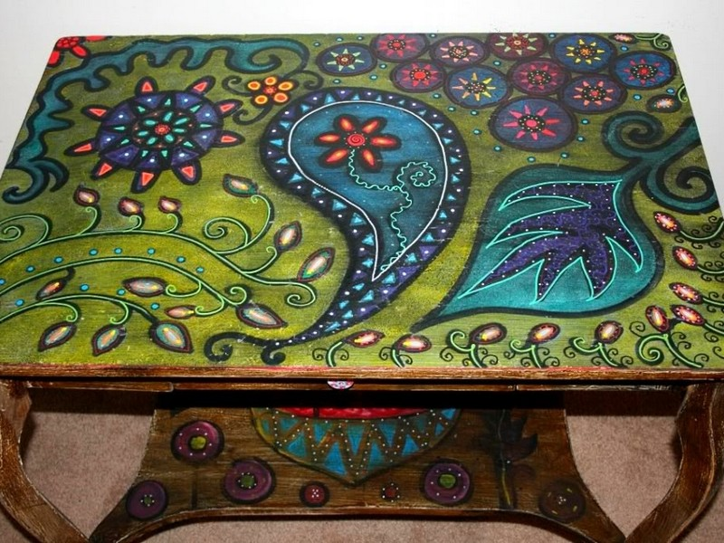 Funky Painted Coffee Tables
