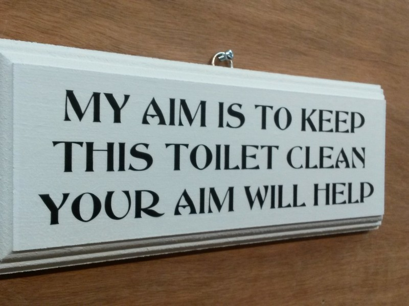 Funny Bathroom Signs Keep Clean