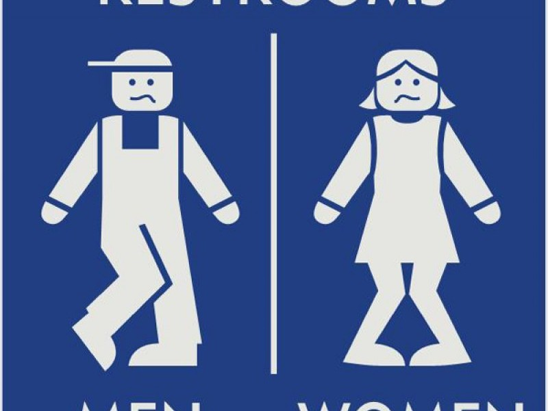 Funny Unisex Bathroom Signs