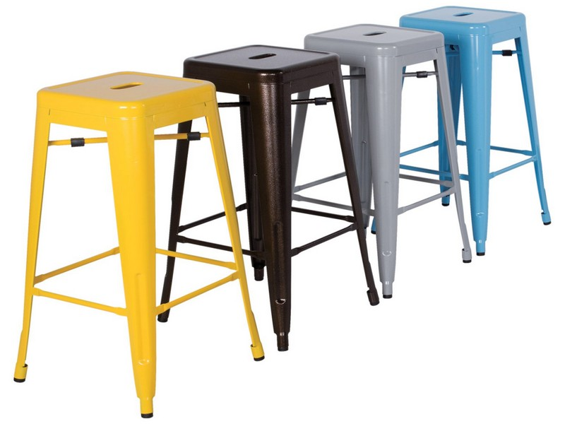 Galvanized Metal Bar Stools