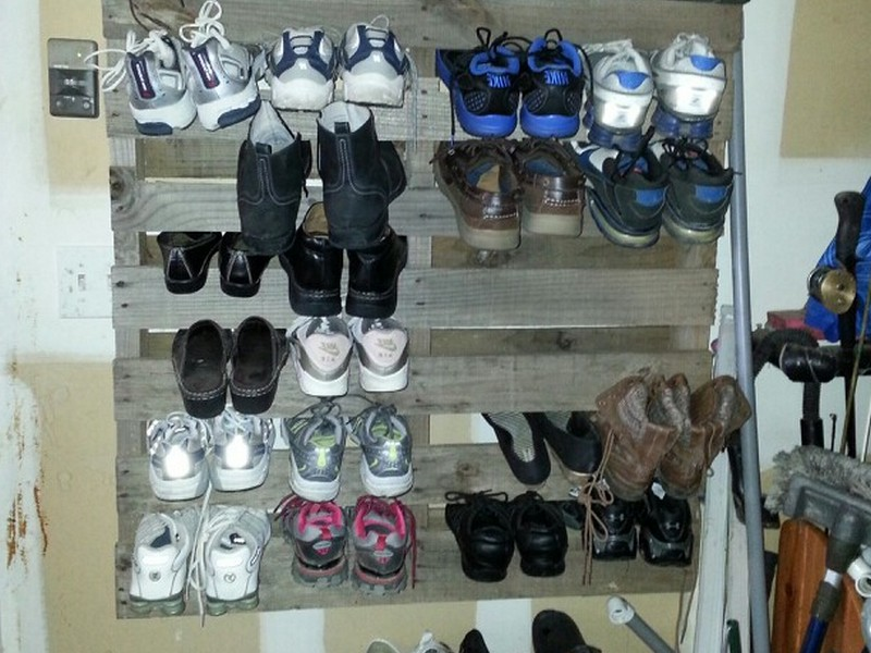 Garage Shoe Rack