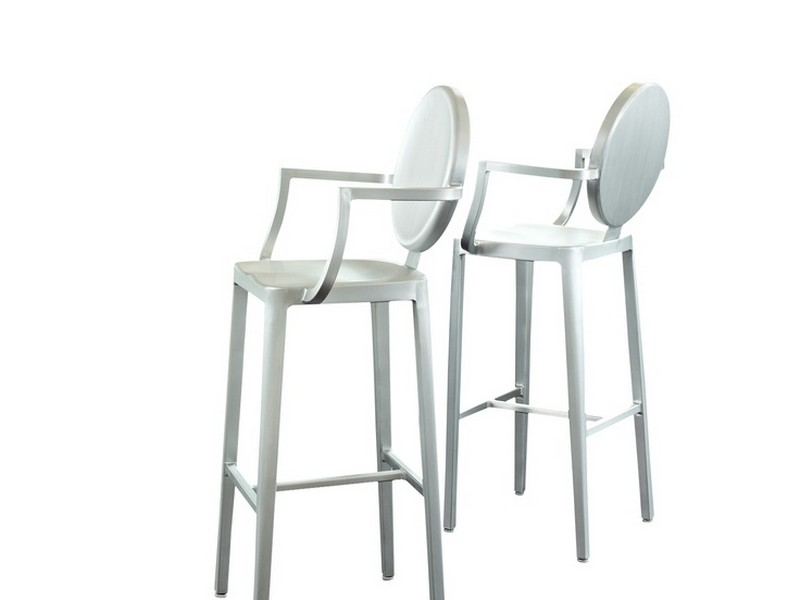 Ghost Counter Stool With Back