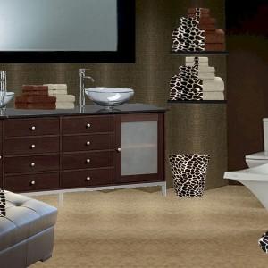 Giraffe Print Bathroom Decor