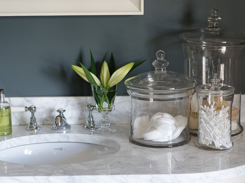 Glass Bathroom Jars