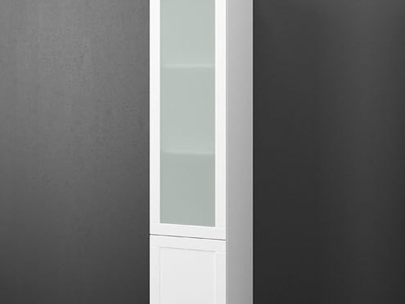Glass Bathroom Shelving Unit