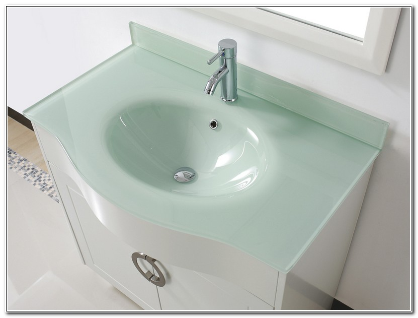 Glass Bathroom Vanity Units