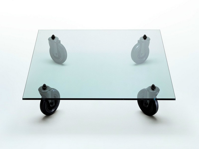 Glass Coffee Table On Casters