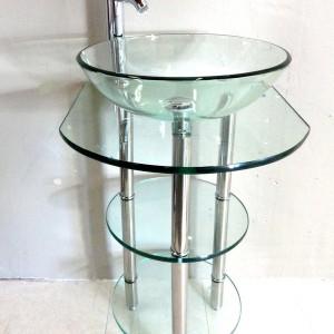 Glass Pedestal Sinks Bathroom