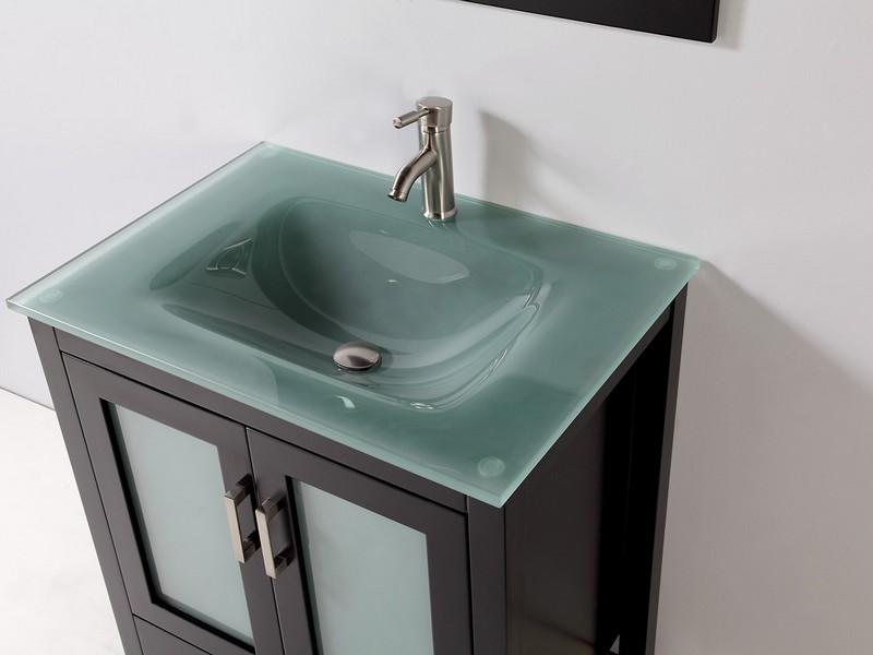 Glass Top Bathroom Vanity Sink