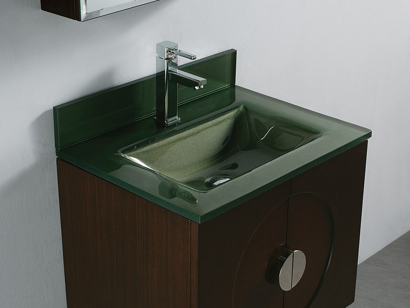 Glass Top Bathroom Vanity Units