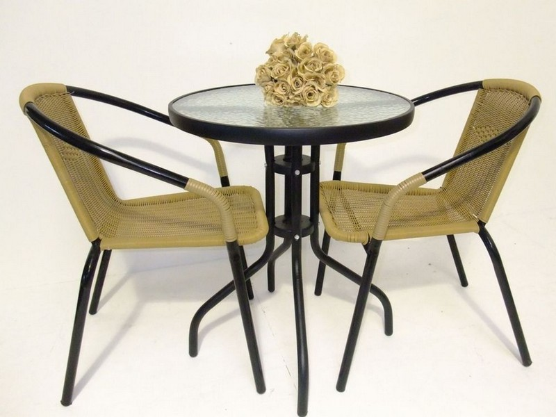 Glass Top Bistro Table Set