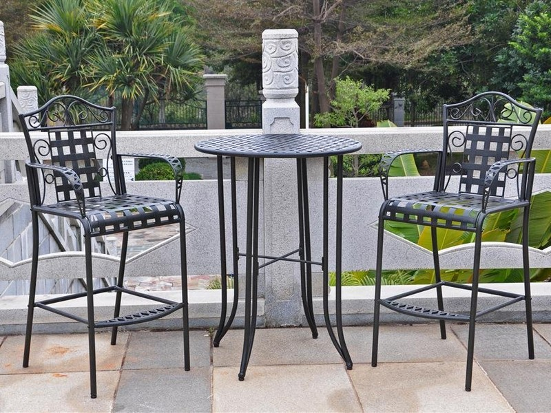 Glass Top Bistro Table Wrought Iron