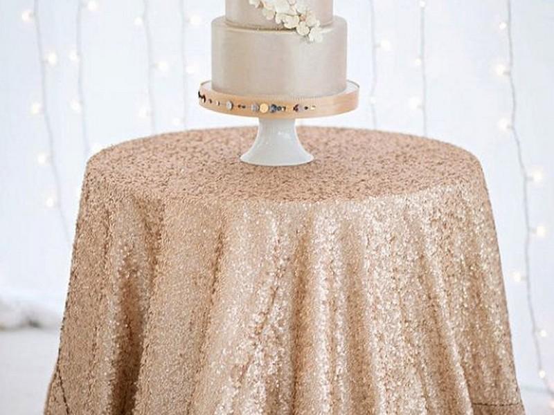 Glitter Table Linens For Weddings