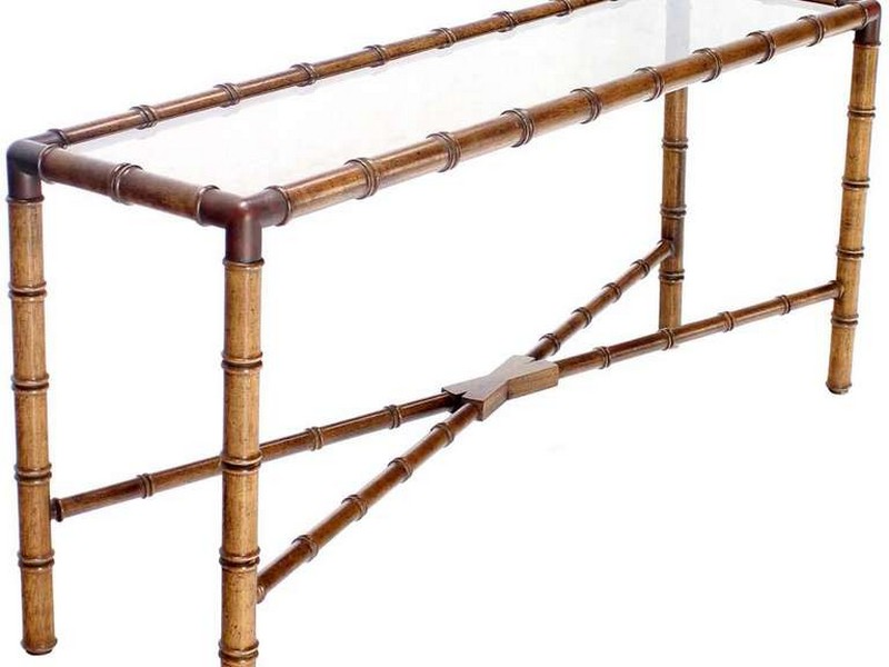 Gold Bamboo Console Table