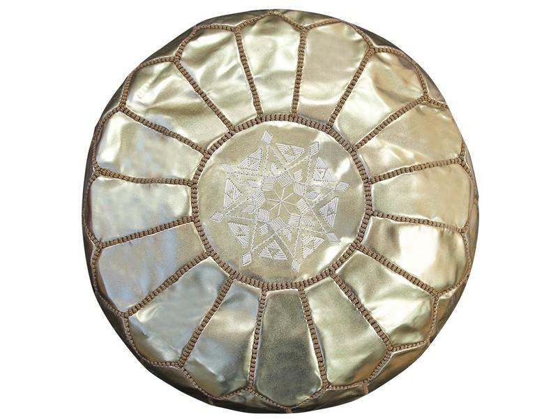 Gold Moroccan Pouf Australia