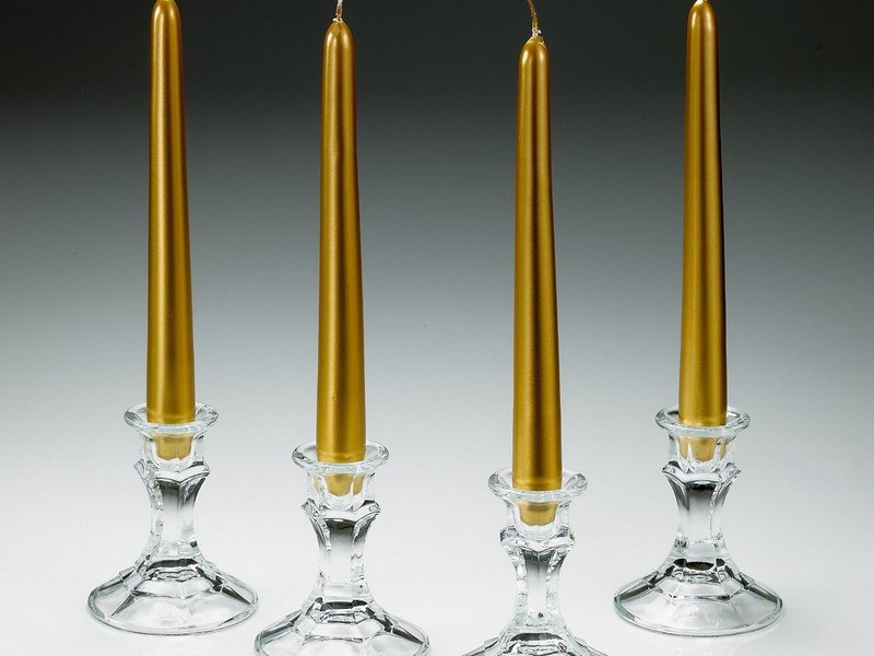 Gold Taper Candles Cheap