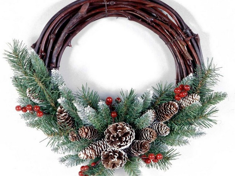 Grapevine Christmas Wreaths