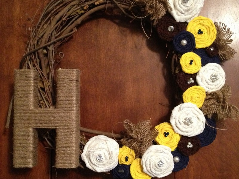 Grapevine Wreaths With Initials