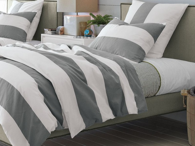 Gray And White Duvet Cover