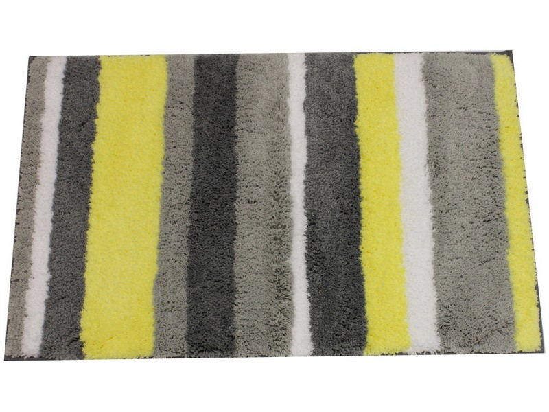 Gray And Yellow Bath Rugs