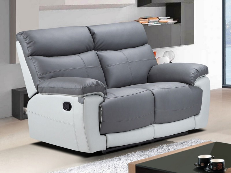 Gray Leather Sofa Recliner