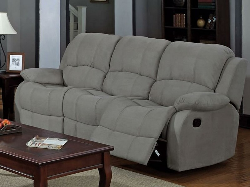 Gray Microfiber Sectional