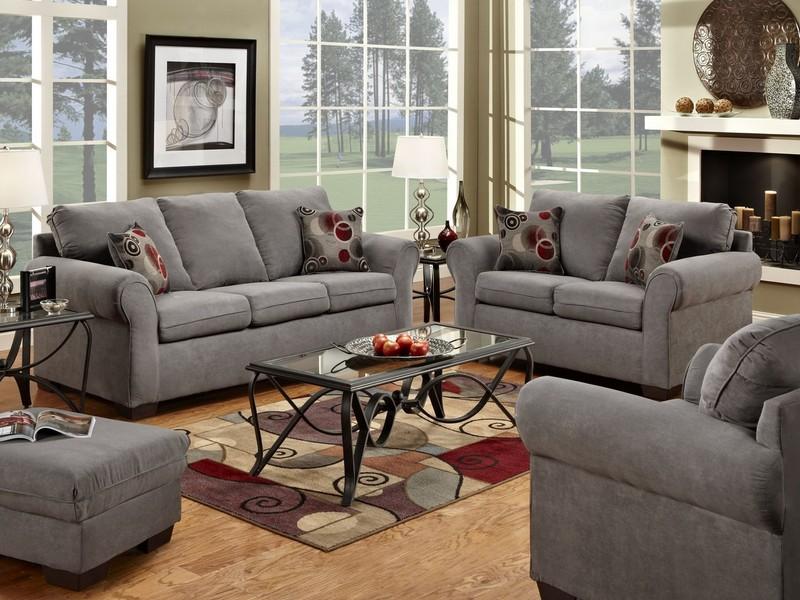 Gray Microfiber Sofa