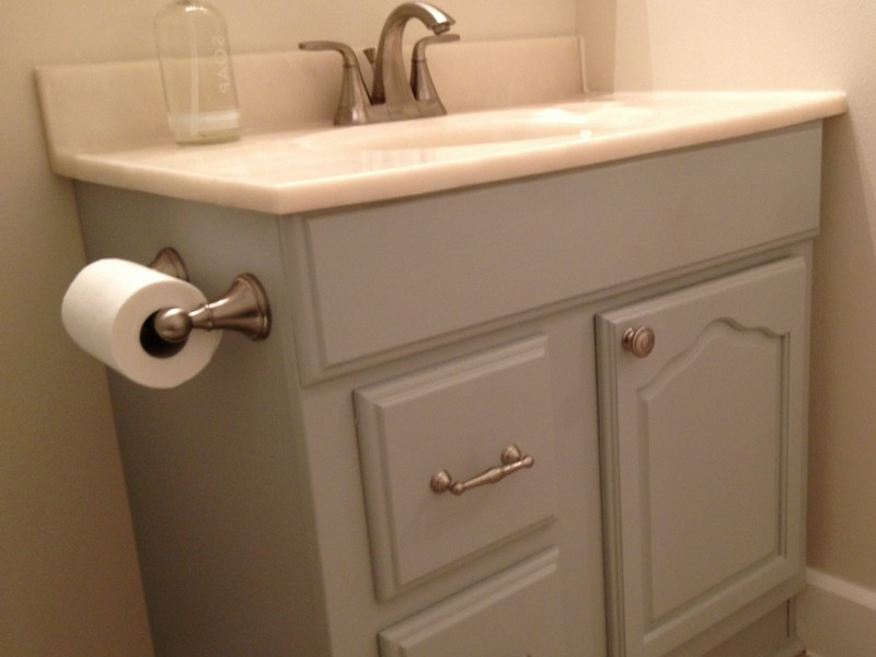 Gray Painted Bathroom Vanity