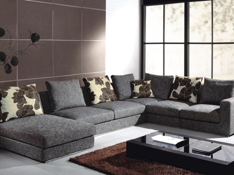 Gray Sectional Couch Cover