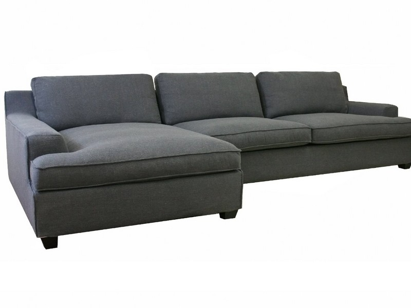 Gray Sectional Sofa With Chaise Lounge