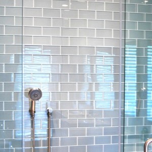 Gray Subway Tile Bathrooms