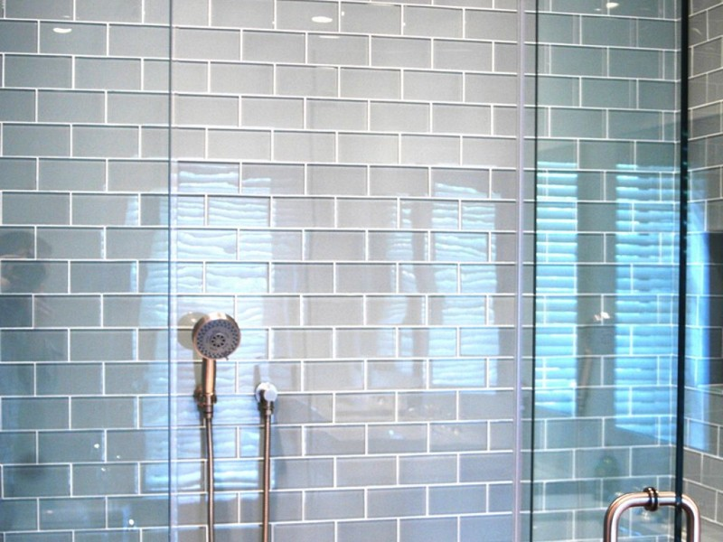 Gray Subway Tile Bathrooms