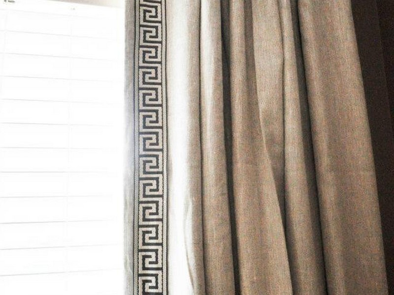 Greek Key Trim Curtains