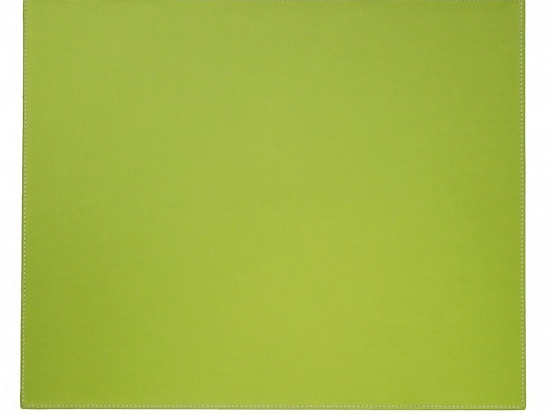 Green Faux Leather Placemats