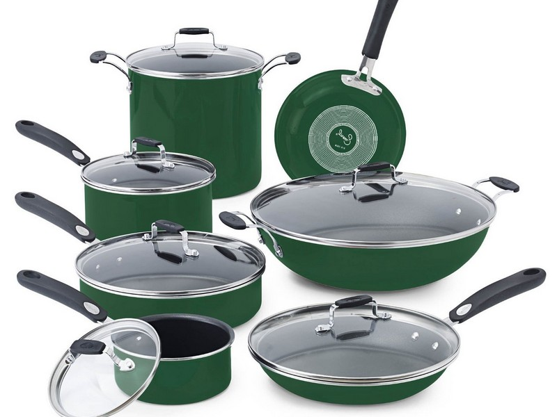 Green Pots And Pans Set