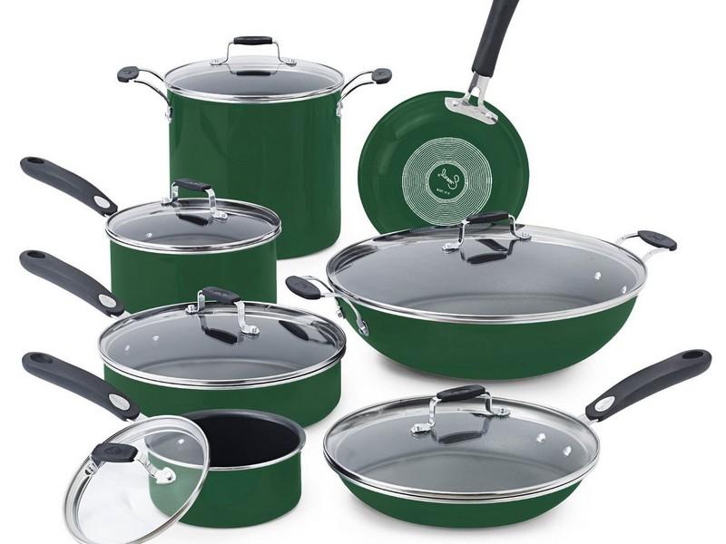 Green Pots And Pans Set